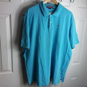 Vineyard Vines Light Turquoise Polo Sz XXL